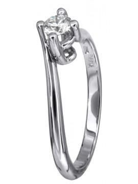 Μονόπετρο γάμου με διαμάντι brilliant Κ18 D023749 D023749