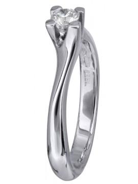 Μονόπετρο δαχτυλίδι γάμου με διαμάντι 18Κ D023759 D023759
