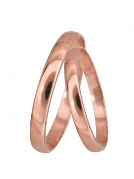 Ροζ gold bull βέρες γάμου Κ14 D024061 D024061