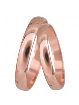 Κλασικές πομπέ βέρες σε ροζ χρυσό Κ14 D024071 D024071