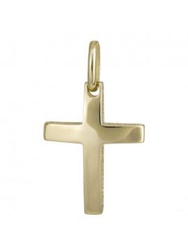 Χρυσός λουστρέ σταυρός διπλής όψεως 14Κ D024263 D024263
