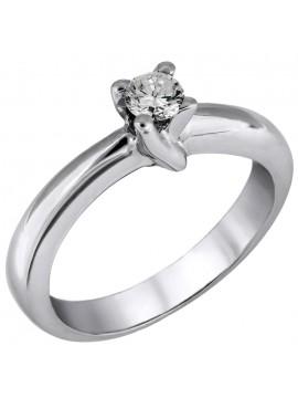 Μονόπετρο δαχτυλίδι με brilliant Κ18 D026241 D026241
