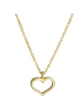 Χρυσό κολιέ με μοτίφ καρδούλα Κ14 D025011 D025011