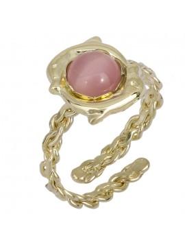Χρυσό παιδικό δαχτυλίδι δελφινάκια Κ9 D025206 D025206