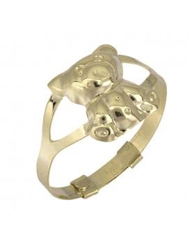 Παιδικό χρυσό δαχτυλίδι αρκουδάκι Κ9 D025208 D025208