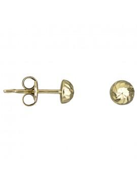 Χρυσά παιδικά σκουλαρίκια Κ9 με λευκή ζιργκόν D025419 D025419