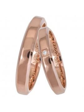 Ροζ χρυσές λουστρέ βέρες γάμου Κ14 D025654 D025654