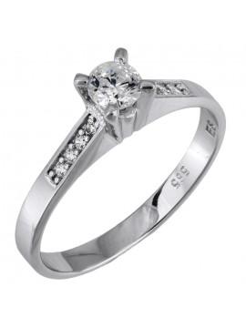 Λευκόχρυσο δαχτυλίδι Swarovski Κ14 με πέτρες ζιργκόν D025849 D025849