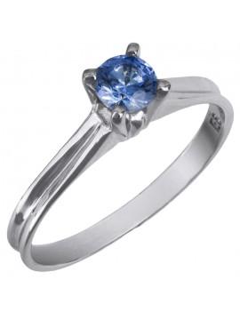 Μονόπετρο δαχτυλίδι Κ14 με μπλε πέτρα swarovski D025857 D025857
