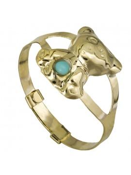 Παιδικό δαχτυλίδι Κ9 αρκουδάκι με τυρκουάζ πέτρα D026833 D026833