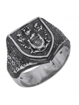Ασημένιο ανδρικό δαχτυλίδι 925 Σεβαλιέ D026937 D026937