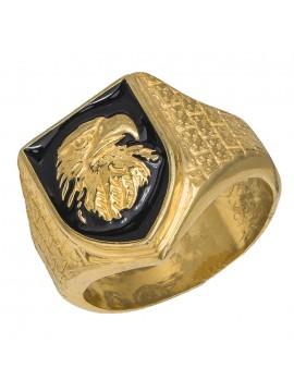 Επίχρυσο Ανδρικό δαχτυλίδι 925 Σεβαλιέ D026939 D026939