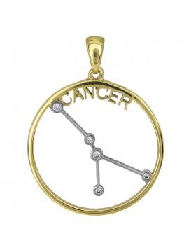 Δίχρωμο κρεμαστό Κ14 ζώδιο του Καρκίνου D027036 D027036