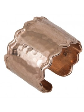 Ροζ επίχρυσο σεβαλιέ δαχτυλίδι 925 D027127 D027127