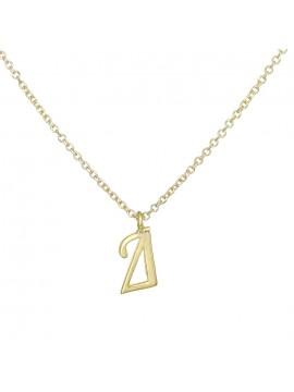 """Γυναικείο κολιέ σε χρυσό Κ9 με μονόγραμμα """"Δ"""" D027851 D027851"""