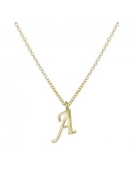 """Γυναικείο χρυσό κολιέ Κ9 με μονόγραμμα """"Α"""" D027853 D027853"""