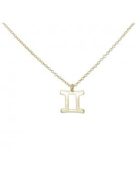 Κολιέ χρυσό με το σύμβολο των Διδύμων Κ9 D027862 D027862