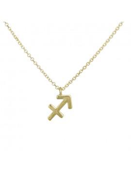 Χρυσό κολιέ με το ζώδιο του Τοξότη 9Κ D027868 D027868