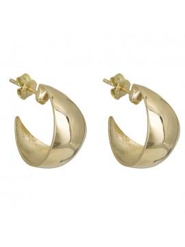 Χρυσά λουστρέ σκουλαρίκια Κ14 D028290