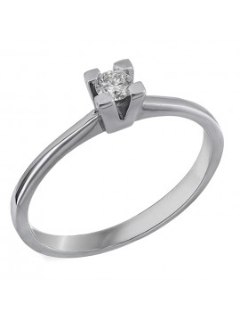 Κλασικό μονόπετρο γάμου με διαμάντι Κ18 D028300 D028300