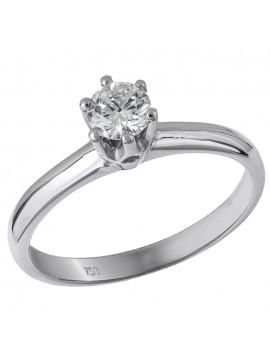 Μονόπετρο δαχτυλίδι 18 Καρατίων με διαμάντι D028387 D028387