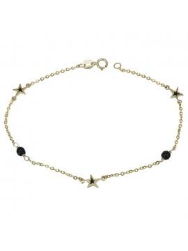 Γυναικείο χρυσό βραχιόλι Κ9 με αστεράκια D028885 D028885