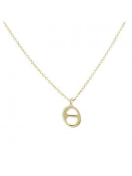 """Γυναικείο κολιέ σε χρυσό Κ9 με μονόγραμμα """"Θ"""" D028910 D028910"""