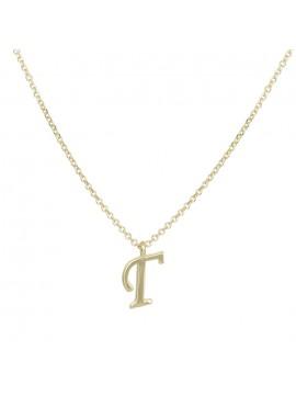 """Χρυσό κολιέ Κ9 με κρεμαστό μονόγραμμα """"Γ"""" D028915 D028915"""