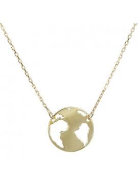 Χρυσό γυναικείο κολιέ Κ14 υδρόγειος D028996 D028996