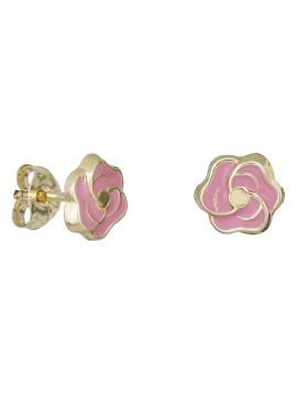 Παιδικά σκουλαρίκια Κ9 ροζ τριαντάφυλλα 029102 D029102
