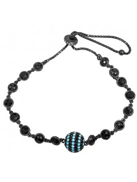 Μαύρο επιπλατινωμένο βραχιόλι 925 με πέτρες D029435 D029435