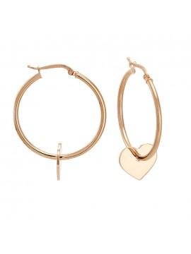 Σκουλαρίκια κρίκοι 925 Vogue με μοτίβο καρδιά 0310202 310202