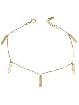 Γυναικείο χρυσό βραχιόλι 14Κ με μπάρες D031234