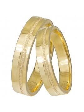 Βέρες γάμου χρυσές Κ14 με διαμαντάρισμα D031426 D031426