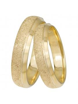 Χρυσές βέρες γάμου Κ14 πομπέ D031428 D031428