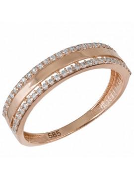 Σειρέ Δαχτυλίδι Ροζ Gold 14Κ με Βεράκι D033029 D033029