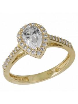 Δαχτυλίδι Ροζέτα 14K με Ζιργκόν Πέτρες D033018 D033018