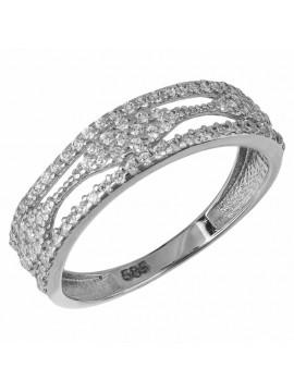 Λευκόχρυσο δαχτυλίδι σειρέ 14Κ D033022 D033022