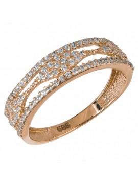 Σειρέ Δαχτυλίδι Ροζ Gold 14Κ D033023 D033023