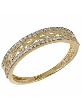 Χρυσό σειρέ δαχτυλίδι 14Κ με ζιργκόν D033024 D033024
