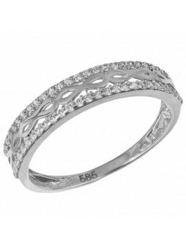 Σειρέ Δαχτυλίδι Λευκόχρυσο 14Κ D033025 D033025