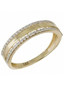 Δαχτυλίδι σειρέ χρυσό 14 Καρατίων με πέτρες ζιργκόν D033027 D033027
