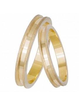 Χρυσές βέρες γάμου 14 Καράτια D033068 D033068