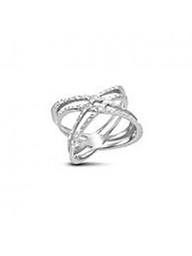 Ασημένιο δαχτυλίδι με λευκά ζιργκόν 925 Vogue 0610123 610123
