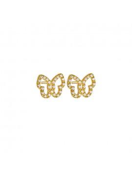 Επίχρυσα σκουλαρίκια Vogue 925 πεταλούδες με ζιργκόν 0630211 630211