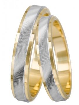 Δίχρωμες χειροποίητες βέρες γάμου 9 καρατίων D019200 D019200