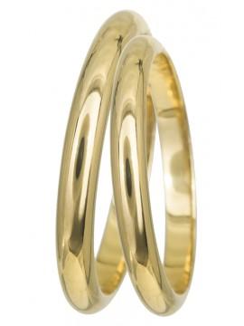 Κλασσικές χειροποίητες βέρες χρυσές 9Κ D9BRS02.5 D9BRS02.5
