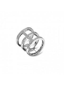Τριπλό Δαχτυλίδι ασημένιο 925 με Ζιργκόν Vogue 105111.3 105111.3