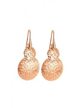 Ροζ επίχρυσα σκουλαρίκια 925 Vogue κύκλοι 0101202 101202