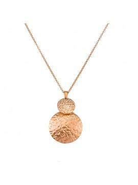 Ασημένιο κολιέ ροζ Gold 925 Vogue με κύκλους 0101412 101412